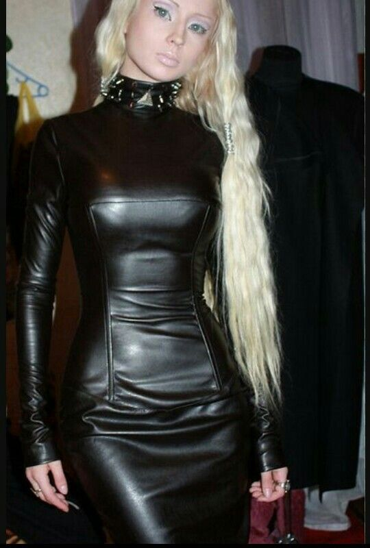 Fetish Leather Dress 17