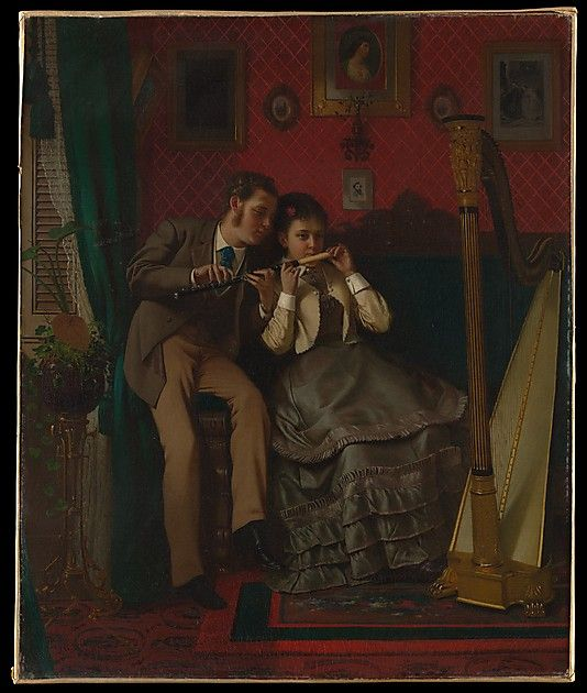 John George Brown (American (born England), 1831–1913). The Music Lesson, 1870. The Metropolitan Museum of Art, New York. Gift of Colonel Charles A. Fowler, 1921 (21.115.3)