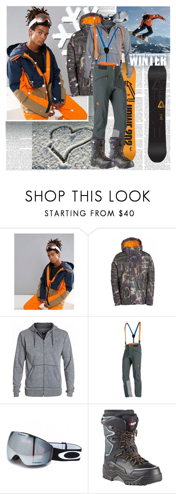 """""""Snowboard Men"""" by stylepersonal ❤ liked on Polyvore featuring O'Neill, Billabong, DC Shoes, Mammut, Oakley, Baffin, men's fashion, menswear, snow and Snowboard"""