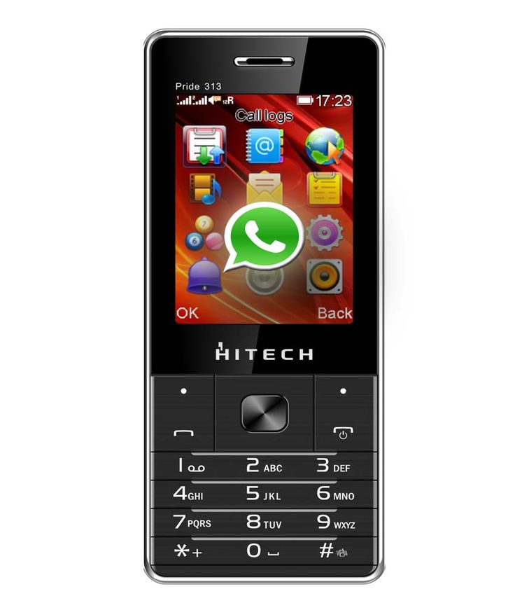 Hitech bring you the new Pride 313 with Preloaded WhatsApp,enjoy your life with fual sim standby,1000 mAh battery capacity,support media format like mp4,Avi,3GP.Digital camera. Also enjoy Preloaded whatsApp.