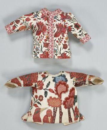 Chintz baby coats, Dutch, mid-18th C.