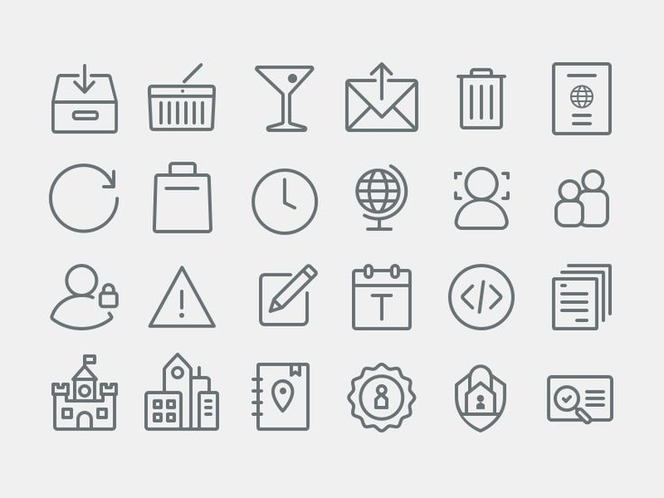 Airbnb Icons - Continued by Brandon Lane for Airbnb