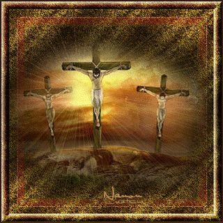 Religijne animowane obrazki : Jezus Chrystus na krzyżu