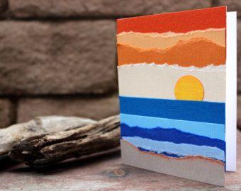 Torn Paper Art Blank Card