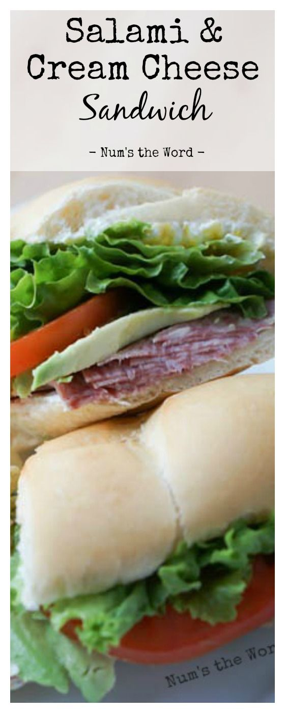 This Salami & Cream Cheese Sandwich is simple, easy, and uses simple ingredients.  The cream cheese and salami compliment each other, making this a hearty and delicious sandwich.