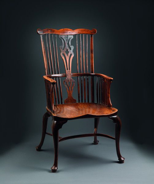 Robert Young Antiques - Collection. Exceptional Georgian Comb Back Windsor Armchair #FolkArt