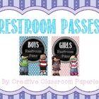 FREEBIE alert!  Adorable restroom passes!