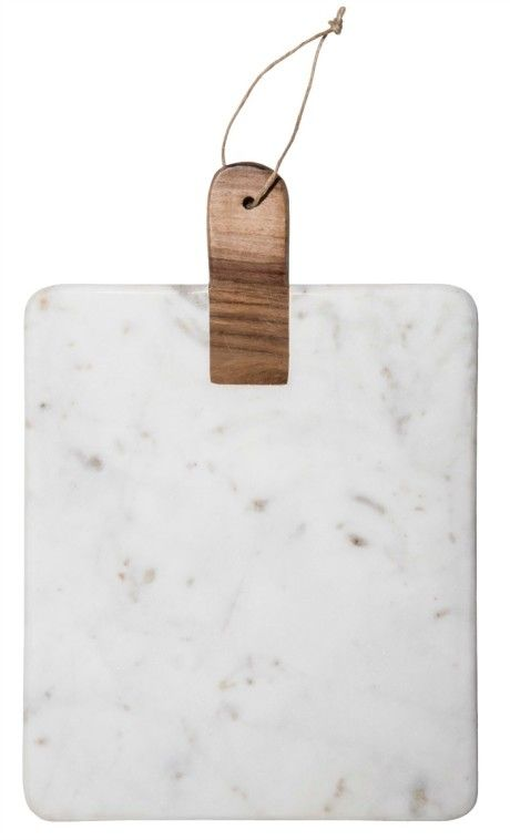 Madam Stoltz Marble Cutting Board With Wooden Handle - Trouva
