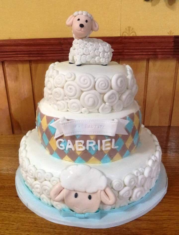 #Bautizo #lamb #fondant #cake by Volován Productos #instacake #puq #Chile #VolovanProductos #Cakes #Cakestagram #SweetCake