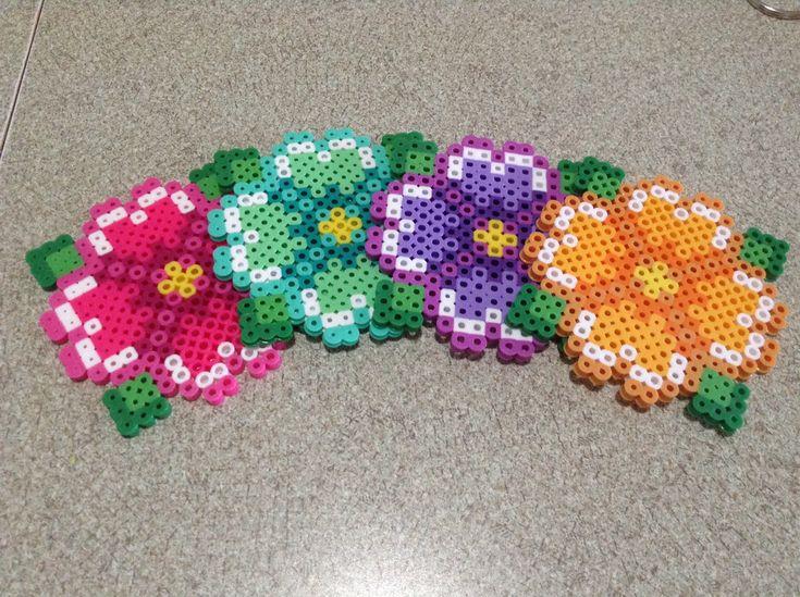37 best flowers perler images on hama