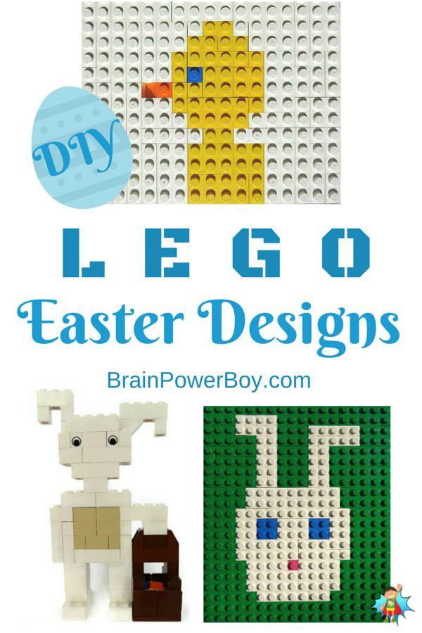Build some cute LEGO Easter projects. 3 fun projects that you can really build. 2 LEGO Easter Bunny projects and a LEGO Mosaic Easter Chick.