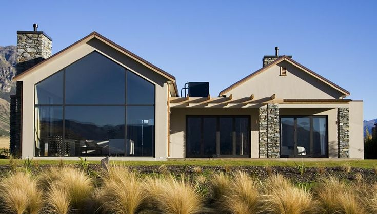 House Design by Landmark Homes #NewZealand- like the different angles and stone work