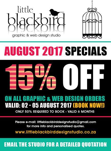 Little Blackbird Design Studio: August 2017 SPECIAL - 15% OFF for 3 days only...BO...