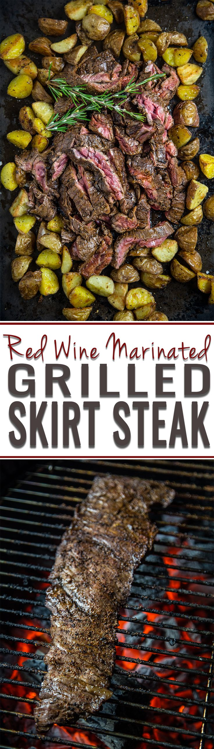 Red Wine Marinated Skirt Steak. A quick and easy recipe for a weeknight. Also perfect for taco night!