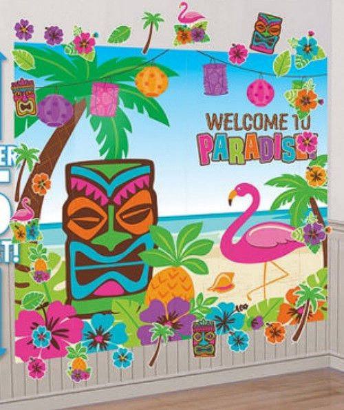 Classroom Luau Ideas : Big summer luau polynesian hawaiian tiki themed party