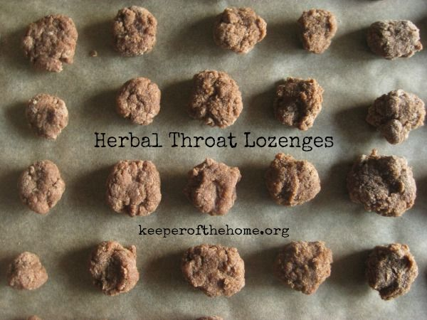 Want to try your hand at making homemade herbal throat lozenges? This recipe for homemade herbal throat lozenges is so easy, you'll never buy them again!