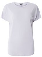 Womens Lilac Relaxed Fit T-Shirt- Purple