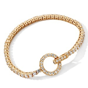 Absolute™ Stainless Steel 3mm Round Circle Clasp Line Bracelet at HSN.com  Your choice of heart or circle, silver or vermeil and even size, on HSN clearance for only $29.95