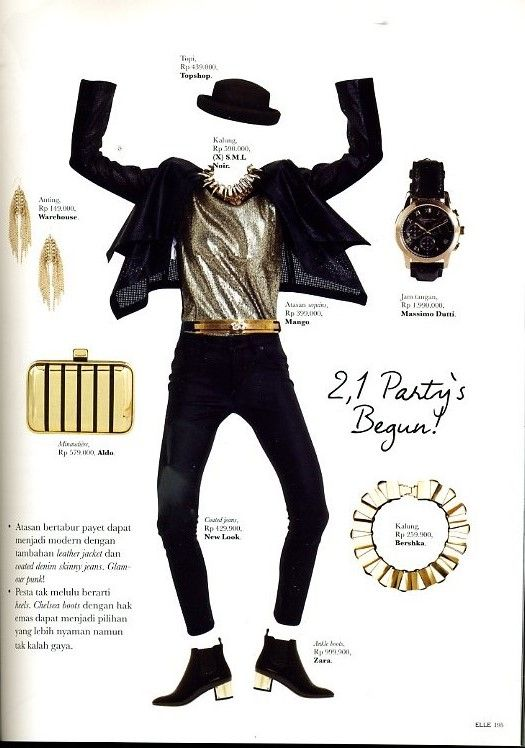 NOIR (X)S.M.L necklace is appeared on Elle Indonesia - December 2013