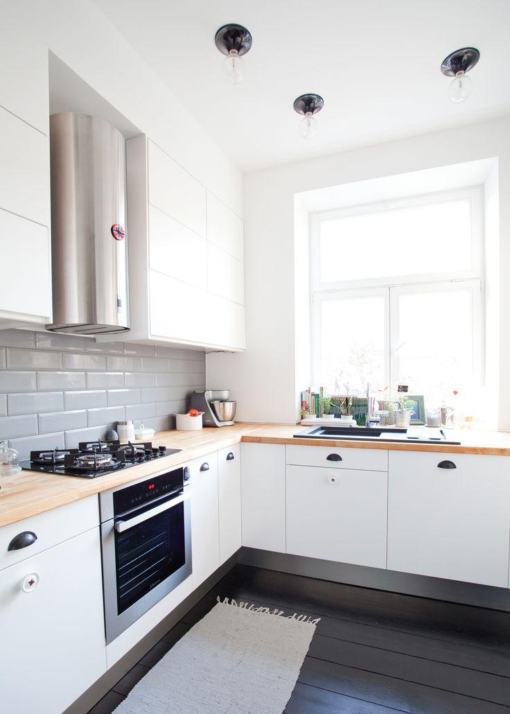 black//white//wood kitchen by www.bohostudio.pl //apartment in Warsaw