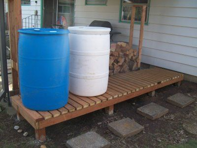 1000 ideas about rain barrel stand on pinterest rain for Rain barrel stand ideas
