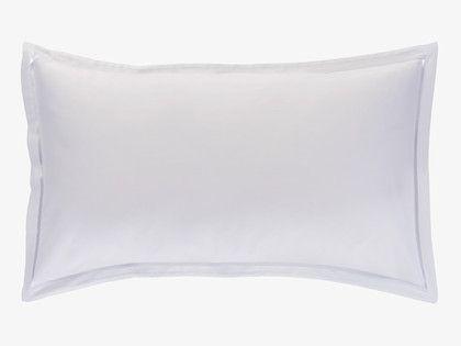 White sateen rectangular pillowcase habitat gbp15