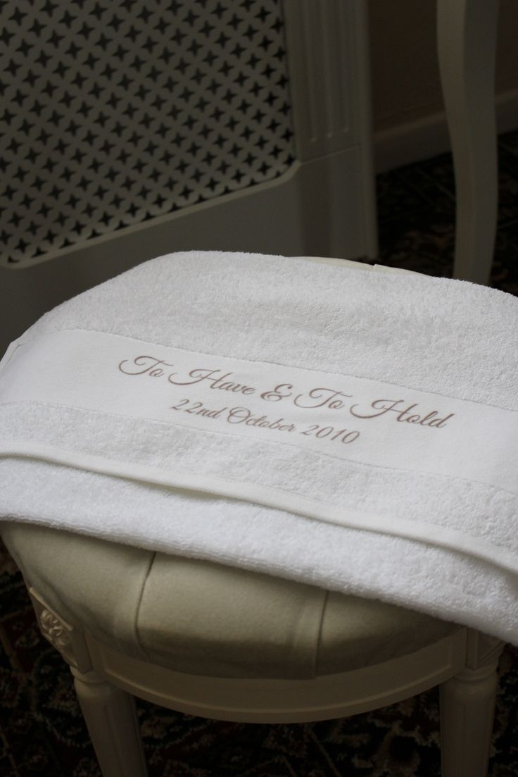This lovely cotton towel can be personalised with Names Significant dates Your own phrase A short phrase no longer than 10 words can be printed on to the towel.   Remember those special occasions, celebrate the dates or give the gift.