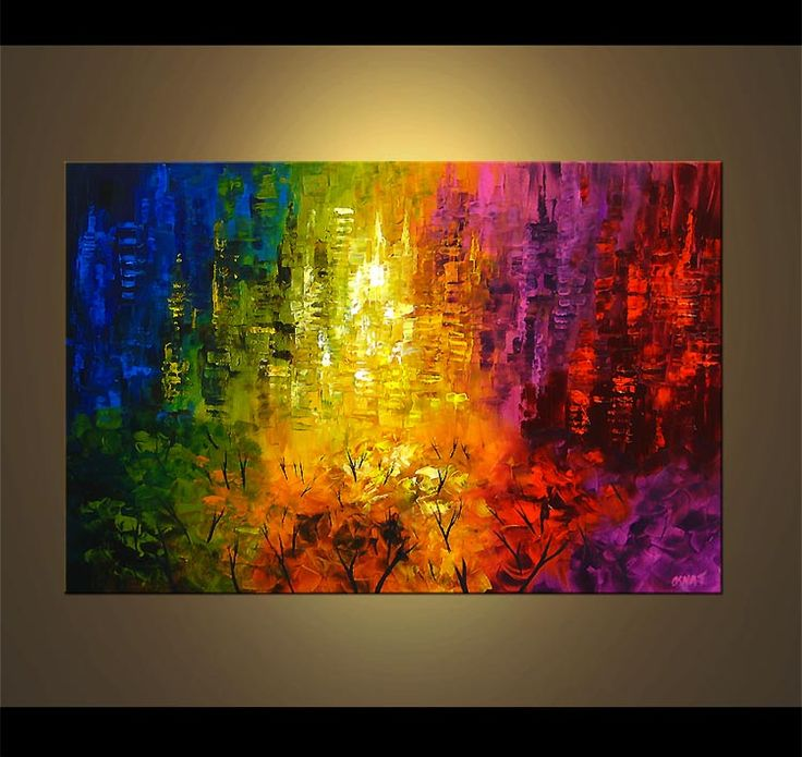 abstract expressionist paintings | Original Abstract Art - Modern Art and Landscape Paintings by Osnat ...