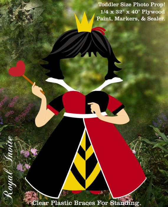 1 The Queen Of Hearts Alice In Wonderland Tea Party Birthday Props Original Illustrations By Me Party Prop  Art Decoration on Etsy, $115.00