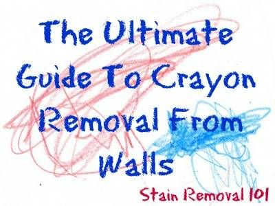 Read several techniques for crayon removal from walls, including several videos, to get rid of all those crayon marks children seem to make.