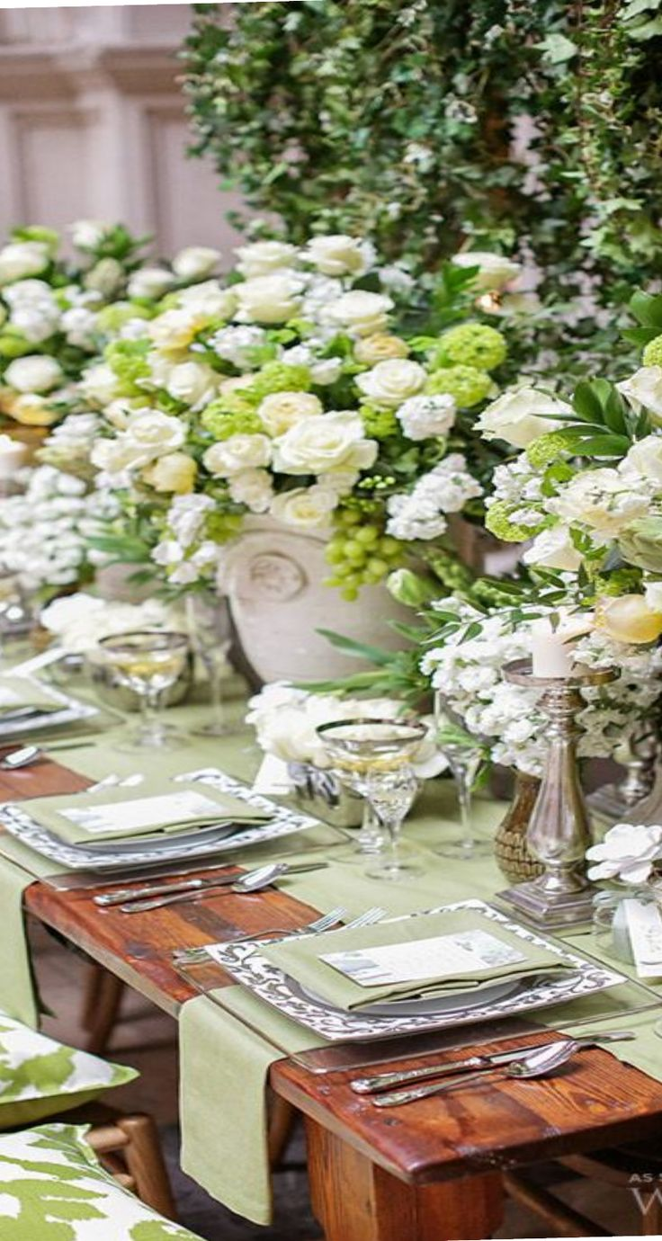 Tables Cape Green White Gorgeous Tablescapes