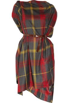 Okay I may need this for fall too... Vivienne Westwood's iconic cool Anglomaniatartan wool dress.