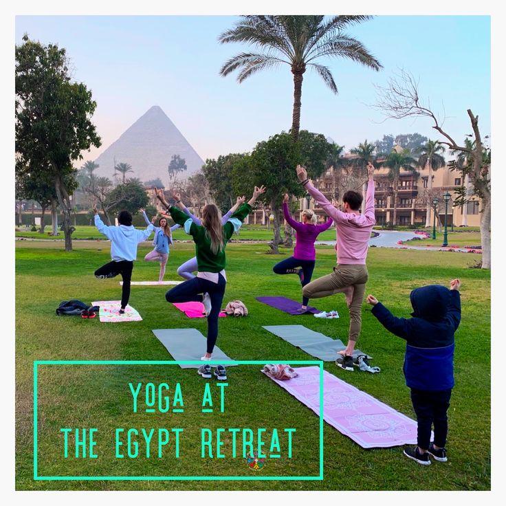 Amazing feeling to practice sunrise yoga next to the giza