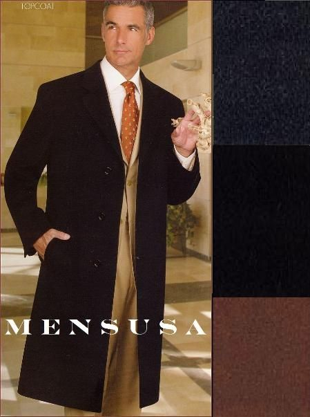 Long Overcoat Single Breasted 3 Button Front Notch Lapel for more details visit our site long coats for men.