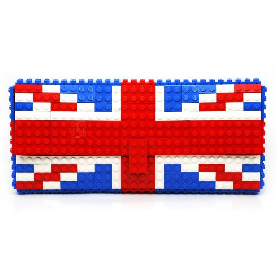 British flag clutch purse made with LEGO® bricks FREE by agabag
