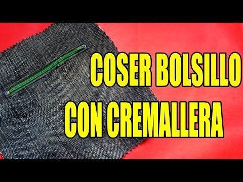 """Cómo hacer un Bolsillo interior """"directo"""" para bolsas forradas TUTORIAL Inerya viris - YouTube"""