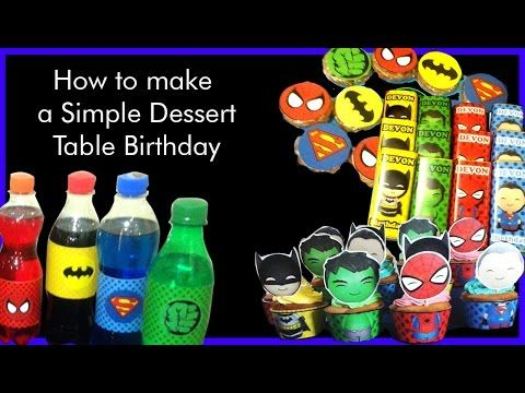 Video how to make simple dessert table
