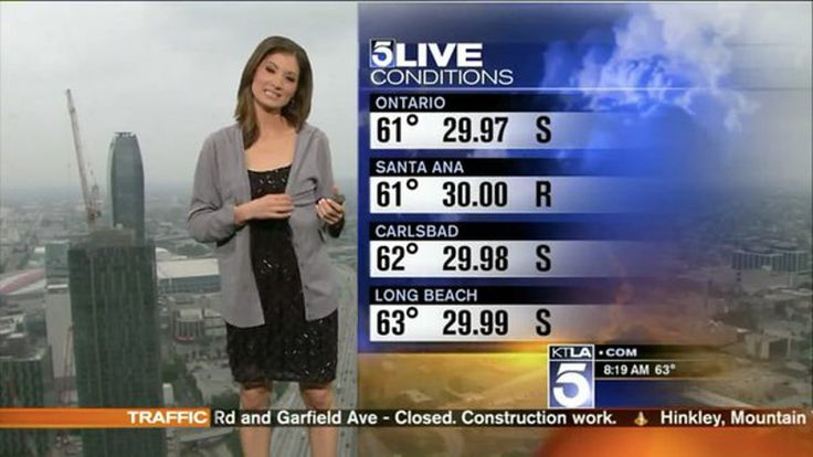 KTLA Weather Reporter Handed Sweater On Air
