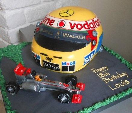 Formula 1 Cake - Louis Hamilton Helmet