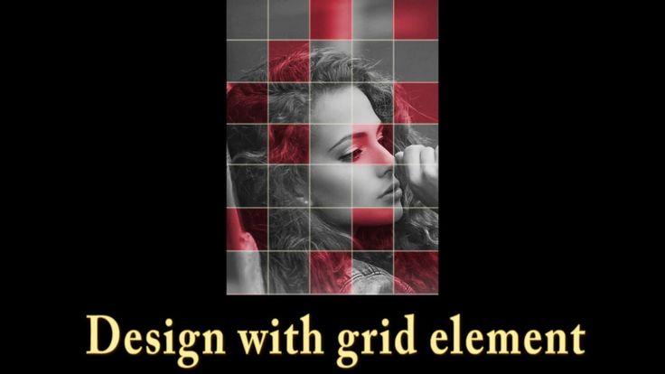 Photoshop Tutorial design in grid element