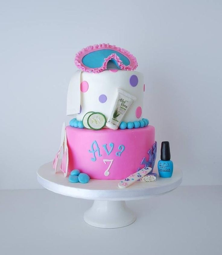 Spa Day Birthday Cake - Cake by RedHeadCakes