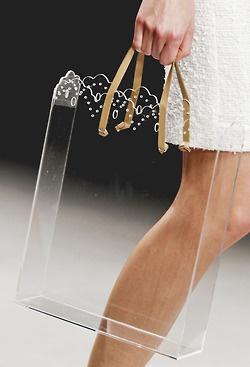 acrylic 'bag'.  so cool!