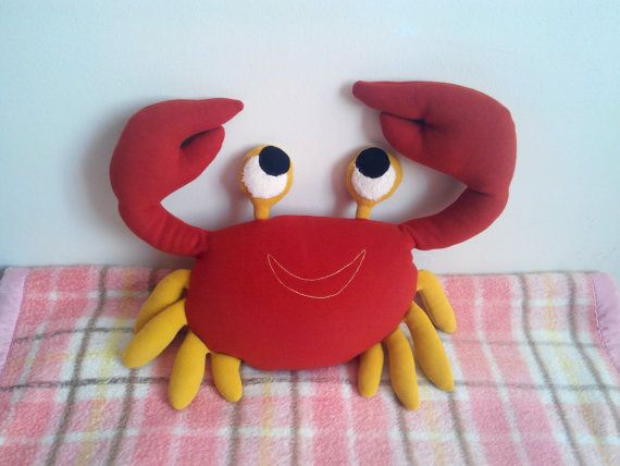 CHRISTMAS SALE soft kids toy crab kids toy toddler by Pillowio