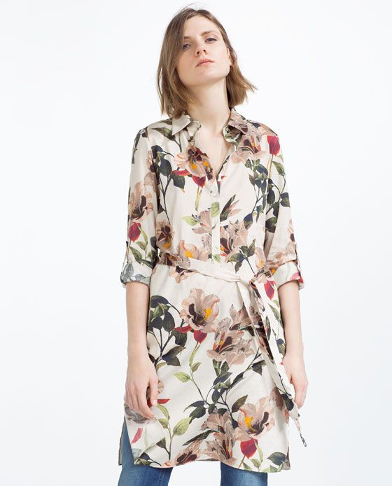 Image 2 of PRINTED TUNIC WITH SLITS from Zara