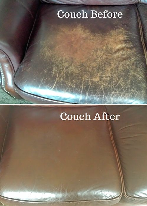 The Couch Before And After I Conditioned It Using Evoo Ve Used This Method For Last 4 To 5 Years Condition Our Leather A