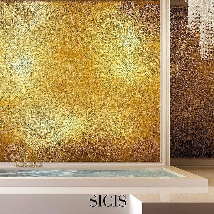 Did you know #sicis #artistic #mosaic  Fancy Gold 24K is now available in our Tessere fabric collection? Innovative textile collection catalogue is available through the link in bio! #mindenmozaik #everythingismosaic #mozaik #art #kezmuves #italy #ravenna  #gold #24k #design #interior #architecture #luxury #luxurylife