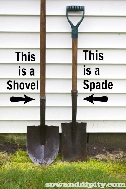 The Difference between a Shovel and a Spade sent to me by my darling hubby...