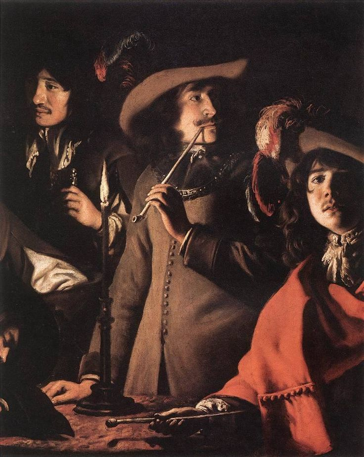 Brothers Le Nain, Smokers in an Interior (detail), 1643