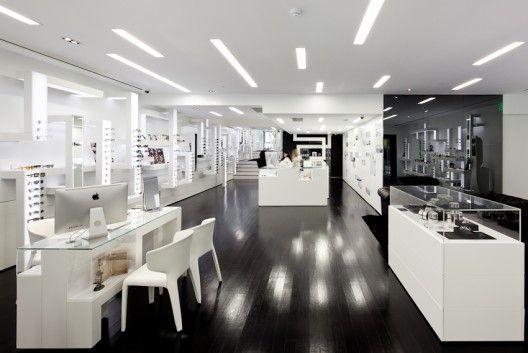 opticas modernas | Projeto de Interiores de uma Ótica em Lisboa por Jorge Sousa Santos ...