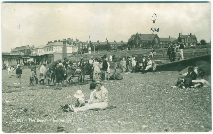 THE BEACH HUNSTANTON - DONKEY RIDES - COATES RP No.1887 | eBay